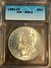 1884 Carson City ICG MS63 Morgan Silver Dollar----90% SILVER