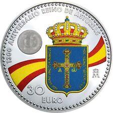 Spain 30 euro 2018 Silver - King Felipe VI & Leonor - COLOURED - AVAILABLE