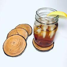 Handmade Pine Wood Coaster Set - 4pc