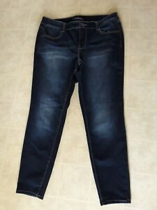 Maurices 16W Short Dark Wash Stretch Denim Jeans Skinny