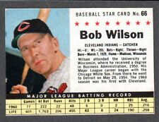 1961 POST CEREAL #66  Bob Wilson  CLEVELAND INDIANS  ( Box Version )  EX+   C