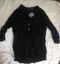 Primark Atmosphere Black Blouse, Shirt Size 10 (8 EUR/36) Brand New