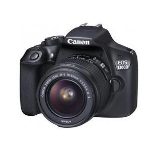 "Canon EOS 1300D 18-55mm 18mp 3"" DSLR Camera New Cod Agsbeagle"