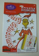 Hallmark THE GRINCH Moveable Decorations Sticker NEW Merry Grinchmas Christmas