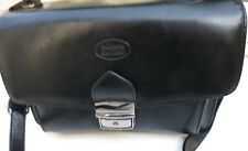 Vintage Pelletteria Calypso Black Leather Document Handbag. Beautiful Bag! FAB!