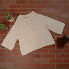 Calvin Klein Large White Heavy Knit Wide Sweater Cardigan Poncho