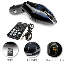 Wireless Car FM Transmitter MP3 Radio USB Charger Hands-Free iPads iPods Blue