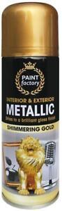 1x 200ml Metallic GOLD Spray Aerosol Gloss Finish for Wood Metal Plastic Paint