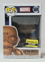 Funko Pop MARVEL Captain America Wood Deco EE Exclusive Brand NEW