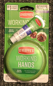 O'Keeffe's Working Hands Hand Cream 2.7 oz And Bonus Night Treatment .25 oz NEW