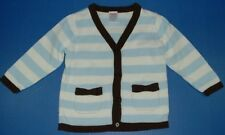 Gymboree Girls Best Friend Blue White Striped Fall WinterCardigan Pockets 18-24M