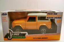 1973 '73 Ford Bronco Orange Just Trucks Diecast 2015 Jada 1:32 Scale Rare