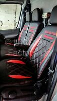 VW TRANSPORTER T5 Van Seat Covers- New Bentley RED  Made to Mesure- X152BK-RD