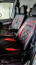 FORD TRANSIT CUSTOM / MK8  Van Seat Covers- New Bentley RED X152BK-RD
