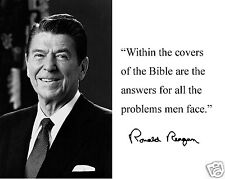 """Ronald Reagan """" within the covers of"""" Autograph Quote 8 x 10 Photo Picture #bwc2"""