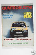 RIVISTA - QUATTRORUOTE - GENNAIO 1976