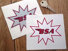 BSA Starburst style Stickers  A65 Spitfire B44 A50 650
