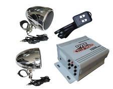 Motorcycle Amplified 3'' Weatherproof Speakers w/ FM