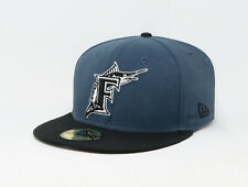 New Era 59Fifty Cap MLB Florida Marlins Cooperstown Mens Throwback Blue 5950 Hat