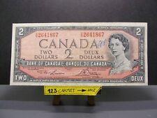 moneta banconota 2 dollari Canada 1954