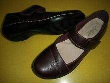 Clarks Ashland Bliss Leather Mary Janes Women's Shoes US 5.5 M Burgandy 5.5M