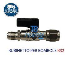 """RUBINETTO PER R32 x BOMBOLA DA   1/4 M SAE -1/2"""" ACME SX"""
