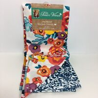 The Pioneer Woman Kitchen Towels Flea Market Collection Set Of 2 Floral Cotton