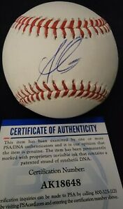Atlanta Braves Autographed Ozzie Albies Baseball PSA Authenticated
