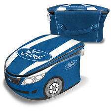 Ford Novelty Car Shape Blue Printed Insulated Lunch Box Cooler Bag New