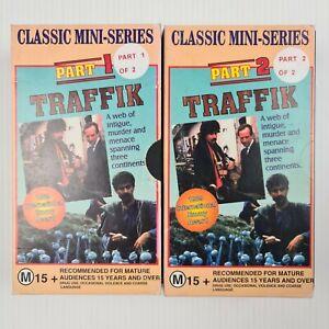 Traffik Part 1 & 2 VHS Tape - Classic Mini-Series - TRACKED POST