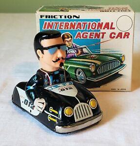 Marx Toys Japan Friction INTERNATIONAL AGENT CAR (AGENT .012)  - 1966 V RARE MIB