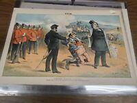 Puck Magazine Print 1880s 20x13 Lithograph Under false colors