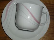 1 Kaffeetasse + Untertasse   Mitterteich Form 2050  Rosa/ Grau  Dekor