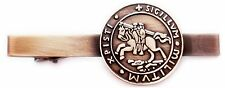 KNIGHTS TEMPLAR CRUSADER SEAL Crusaders Freemason Masonic TIE BAR CLIP