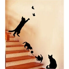Black Removable Lamp Cat Wall Stickers Decal for Home Stair Sticker Decals DIY