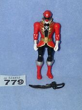 "POWER RANGERS SUPER MEGAFORCE 5"" RED RANGER  FIGURE WITH WEAPON"