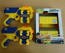 XSHOT Dart Blaster Xcess x2 Bundle & 100 New Darts Refill Pack Nerf Compatible