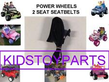 1 BLACK PRE OWNED Fisher Price Power Wheels 2 Seat / SEAT Belt Set