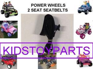 1 BLACK NEW! Fisher Price Power Wheels 2 Seat / SEAT Belt Set 00801-2084