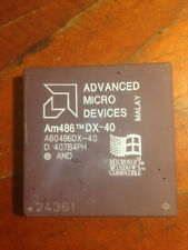 CPU VINTAGE 486 DX 40 MHZ AMD CON LOGO WINDOWS