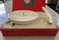 Realistic Monaural Phonograph #13-1118 Record Player Red Box - Powers On AS IS