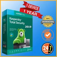 Kaspersky Total Security 2019 Antivirus 1 PC Device 1 Year - Global Version