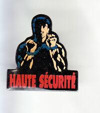 RARE PINS PIN'S .. CINEMA FILM MOVIE STUDIO SYLVESTER STALLONE HAUTE SECURITE~CR