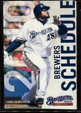 Schedule Baseball Milwaukee Brewers - 2010 - Prince Fielder