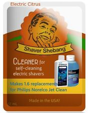 3.2 Philips Norelco Jet Clean HQ200 Bottle Replacements-Electric Citrus