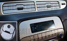 2010-2015 Camaro Silver Carbon Fiber Interior Dash Decal kit Sticker  Chevy vent