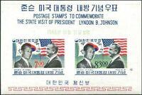 Korea South 1966 SG669 Presidents Pak and Johnson MS MNH