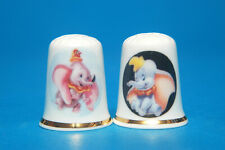 Disney Dumbo set of 2 China Thimbles B/106