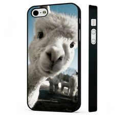 Alpaca Funny Lama Face Animal BLACK PHONE CASE COVER fits iPHONE