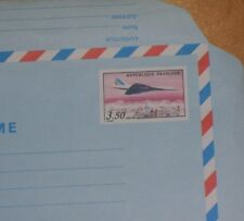 UNUSED FRENCH AEROGRAMME with PRINTED AIR FRANCE CONCORDE OVER PARIS STAMP 3.50F